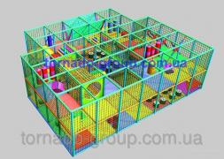 Children's playrooms labyrinths. Production