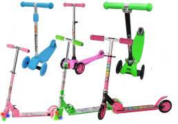 Детские самокаты двухколёсные и трёхколёсные