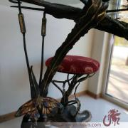 Exclusive wrought iron table available, a table hand-forged, table