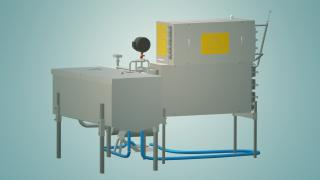 Flow-through milk pasteurizer for 300 l UZM-0.3
