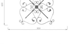 Forged elements, scrolls, Baroque, pillar, baluster