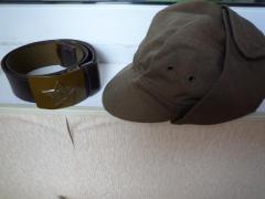 кепка-афганка, пилотка, вещмешок, ремень, форма ссср