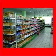 Металлические стеллажи, оборудование для продуктовых магазинов