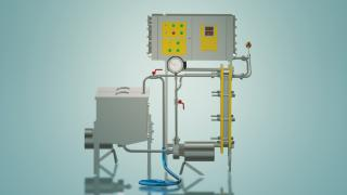 Milk pasteurizer for cheese production 1 t / h UZM-1.0P