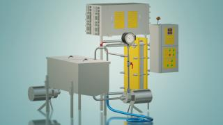 Milk pasteurizer for cheese production 2 t / h UZM-2.0P