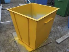 Мусорный бак обьем 0,75 м.куб. сталь 1,2 мм