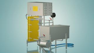 Пастеризатор вина и сока под горячий розлив 1 т/ч УЗМ-1,0ГР