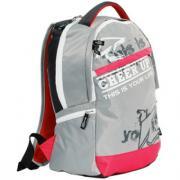 Рюкзак CHEER UP Town серый/красный OLLI, 2U-0515, 447707