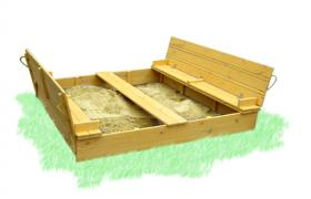 "Sandbox with cover ""Sun"" 200х200см"