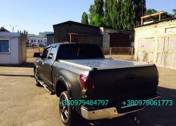 Sectional body boot lid for pickup, all models. Aluminum
