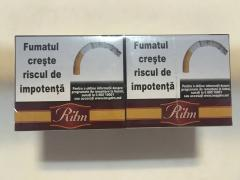 """Selling Moldovan cigarettes without filter with excise duty """"RITM"""" (ORIGINA"""
