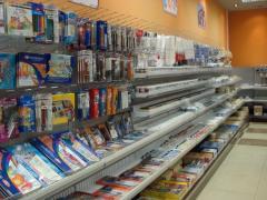 Стеллажи торговые для бытовой химии, хоз товаров, бытовых товаро