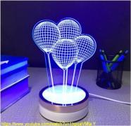 The original gift. 3D Led lamp. Bright and economical