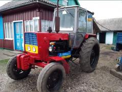 Tractor YuMZ in a good camp