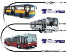 Тросы управления кпп,тнвд,гст,газа:автобусов,авто,бетоносмесител