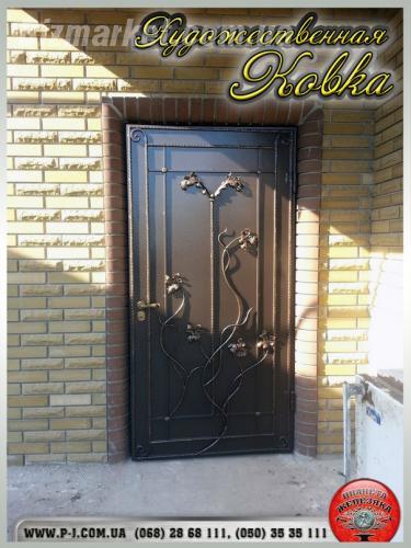 сварные железная дверь